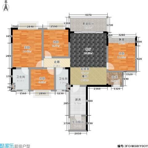 恒大城4室0厅2卫1厨107.00㎡户型图