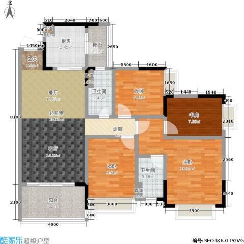 恒大城4室0厅2卫1厨101.00㎡户型图