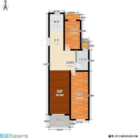 银河湾2室0厅1卫0厨88.00㎡户型图