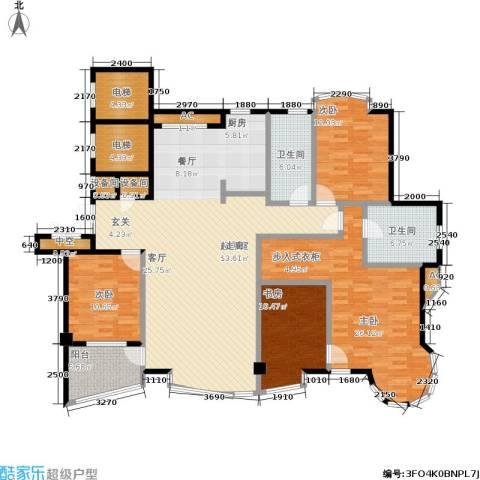 世嘉星海二期4室0厅2卫0厨167.00㎡户型图