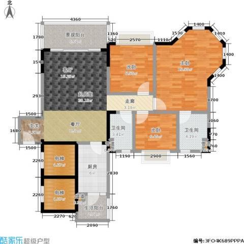 恒大城3室0厅2卫1厨100.00㎡户型图