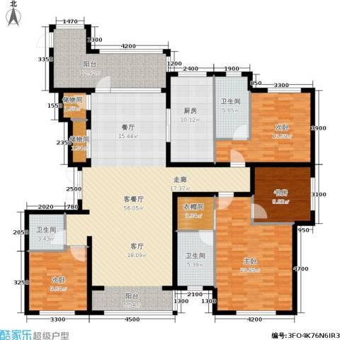 奥园国际城4室1厅3卫1厨195.00㎡户型图