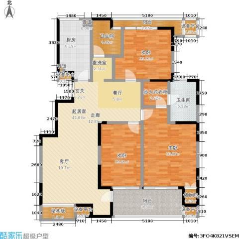 美达浅草明苑3室0厅2卫1厨179.00㎡户型图