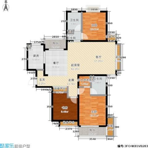 星湖客3室0厅3卫1厨120.00㎡户型图