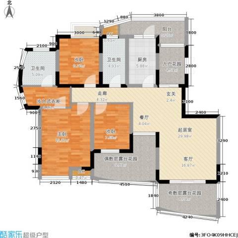复地别院3室0厅2卫1厨161.00㎡户型图