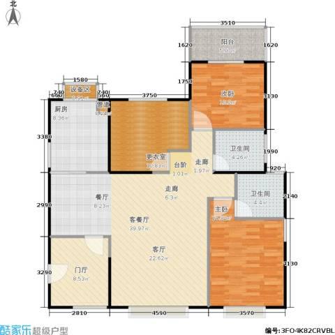 禹洲大学城2室1厅2卫1厨145.00㎡户型图