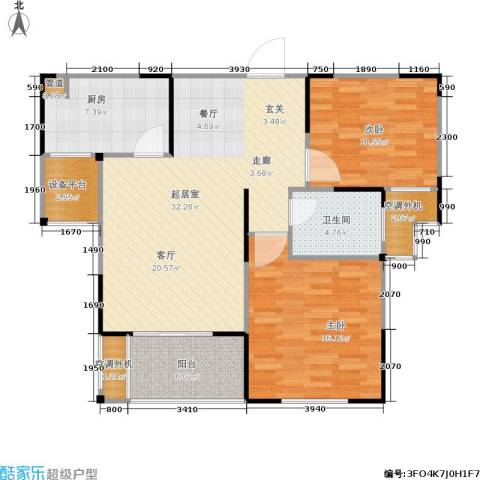济源建业壹号城邦2室0厅1卫1厨89.00㎡户型图