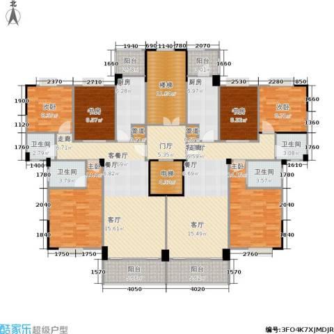 金利蓝湾新城6室2厅4卫2厨255.00㎡户型图