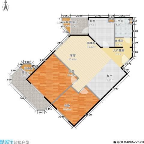 荣宁园2室1厅1卫1厨119.00㎡户型图