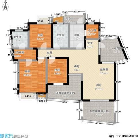 复地别院3室0厅2卫1厨168.00㎡户型图