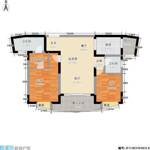 复地别院2室0厅2卫1厨115.00㎡户型图