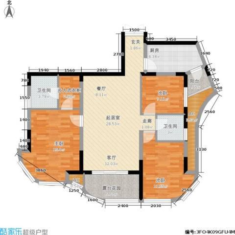 复地别院3室0厅2卫1厨131.00㎡户型图
