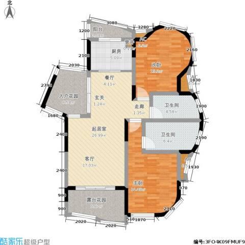 复地别院2室0厅2卫1厨129.00㎡户型图