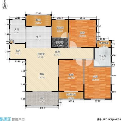 济源建业壹号城邦3室0厅2卫1厨141.00㎡户型图