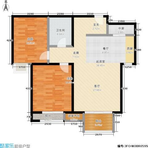 瞰海2室0厅1卫0厨110.00㎡户型图
