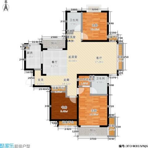 星湖客3室0厅2卫1厨120.00㎡户型图