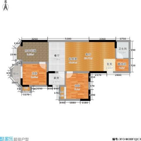 盛仁汇大厦2室0厅1卫1厨69.14㎡户型图