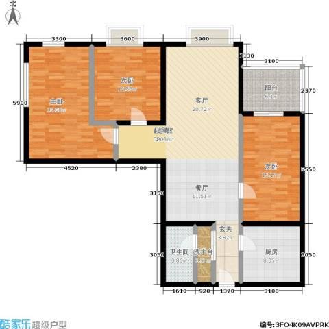东环居苑3室0厅1卫1厨121.92㎡户型图