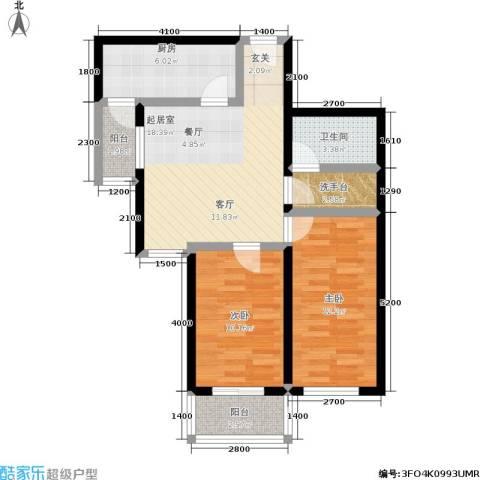 东环居苑2室0厅1卫1厨68.57㎡户型图
