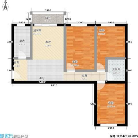 东环居苑3室0厅1卫1厨78.69㎡户型图