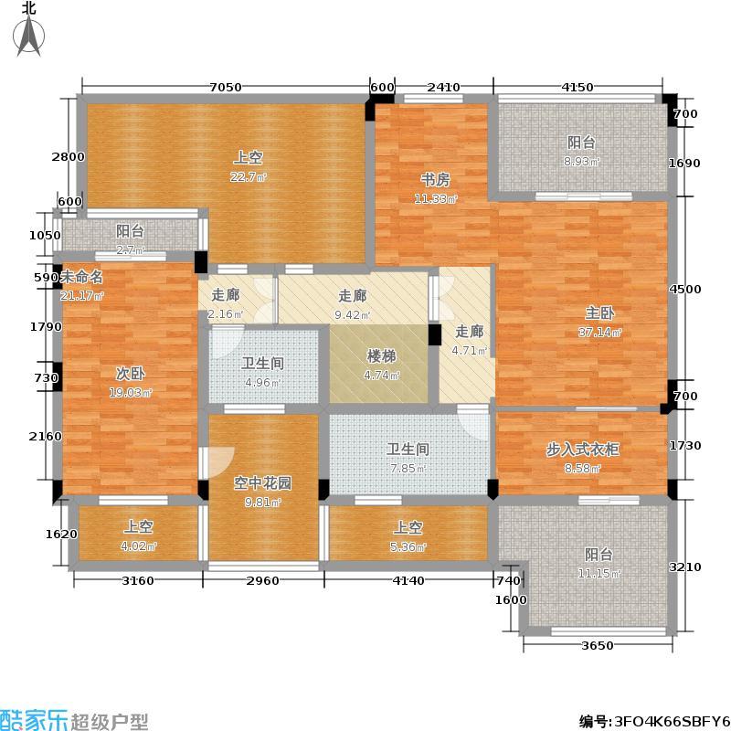 远洋高尔夫国际社区195.00㎡平墅D 套内面积195㎡地下空间51㎡花园面积89㎡ 跃层上层(共2层)户型