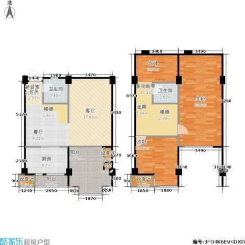 立方寓2室0厅2卫1厨152.00㎡户型图