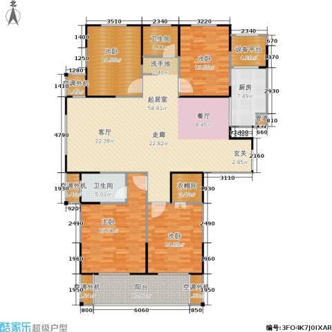 济源建业壹号城邦4室0厅2卫1厨175.00㎡户型图