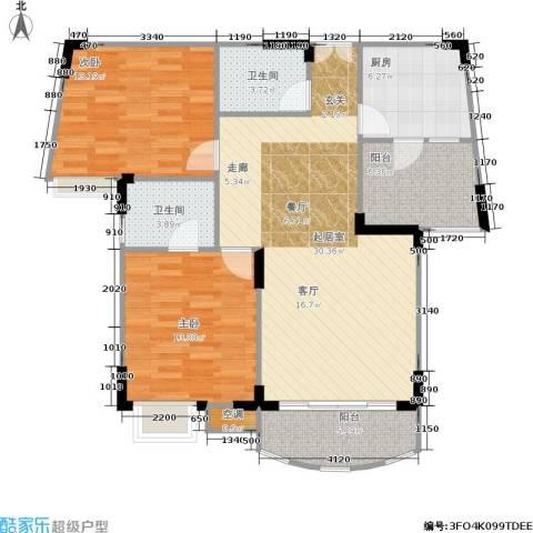 长安丽都2室0厅2卫1厨82.68㎡户型图
