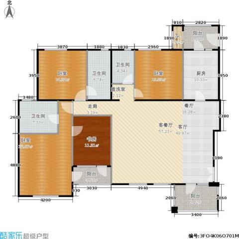 伊顿国际1室1厅3卫1厨174.83㎡户型图