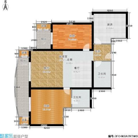 红莲晴园2室0厅2卫1厨133.00㎡户型图