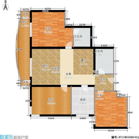 红莲晴园3室0厅2卫1厨141.00㎡户型图