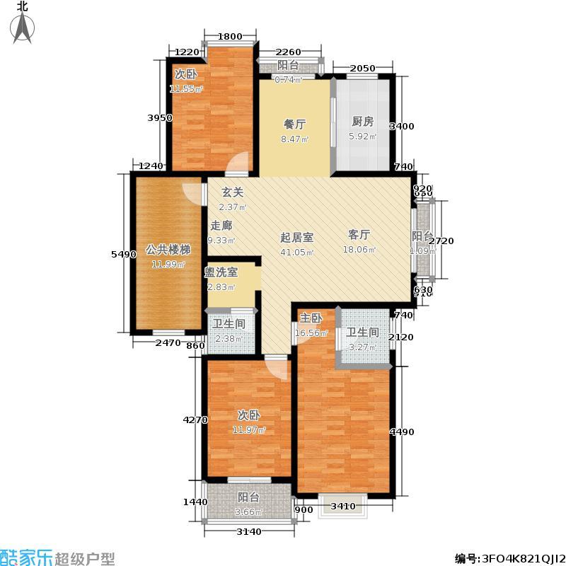 紫桂苑125.00㎡户型