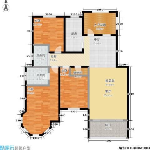 新里摩尔公馆3室0厅2卫1厨143.00㎡户型图