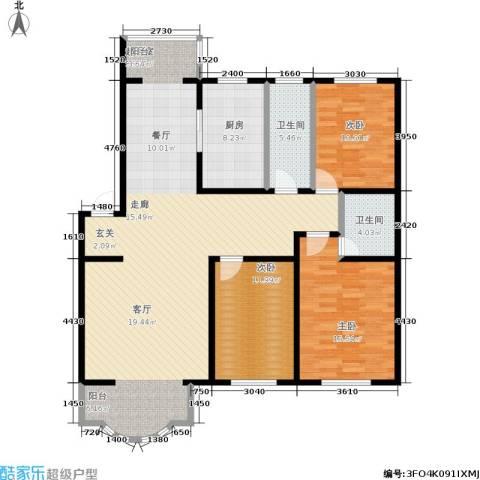 世博家园3室0厅2卫1厨142.00㎡户型图
