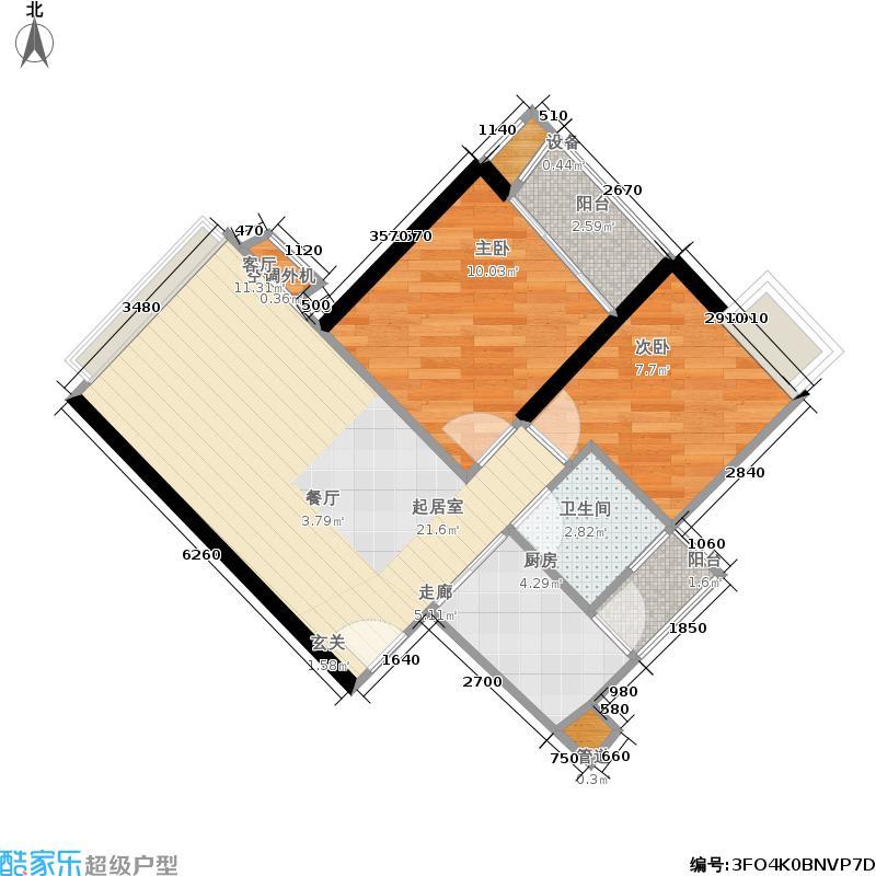 富力海洋广场单卫户型