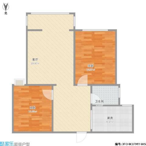 阳光家天下2室1厅1卫1厨84.00㎡户型图