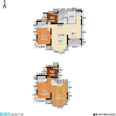 东海长洲3室0厅3卫1厨195.00㎡户型图