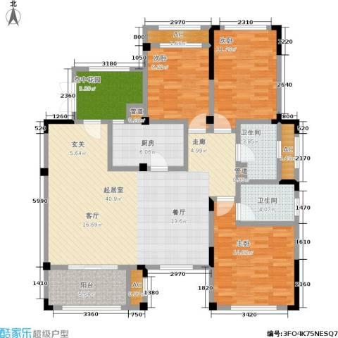 正商红河谷3室0厅2卫1厨121.00㎡户型图