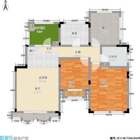 正商红河谷2室0厅1卫1厨93.00㎡户型图
