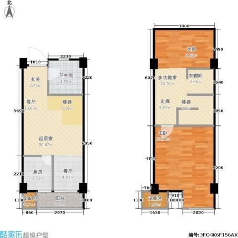 立方寓1室0厅1卫1厨98.00㎡户型图