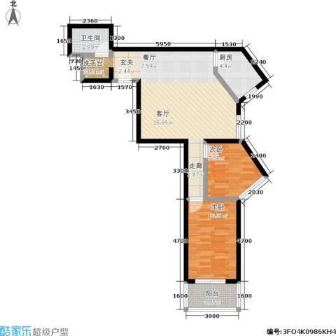 东环居苑2室0厅1卫1厨73.09㎡户型图