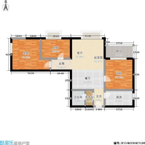 东环居苑3室0厅1卫1厨99.00㎡户型图