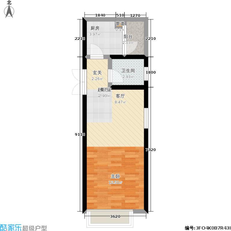 船舶大厦39.00㎡房型户型