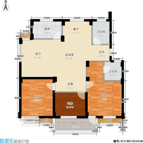 颐和名苑3室0厅2卫1厨146.00㎡户型图