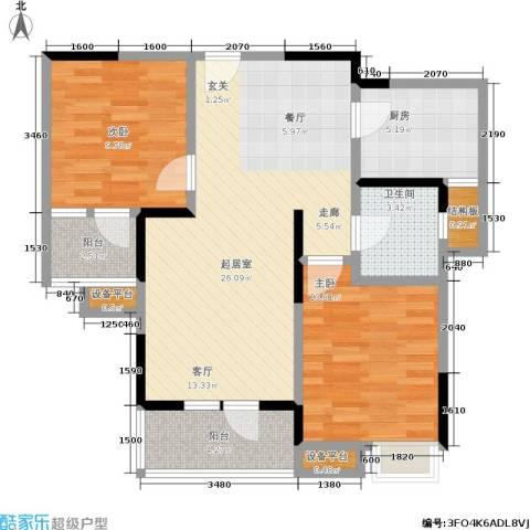 天一绿海2室0厅1卫1厨92.00㎡户型图