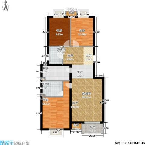欧逸丽庭3室0厅2卫1厨118.00㎡户型图
