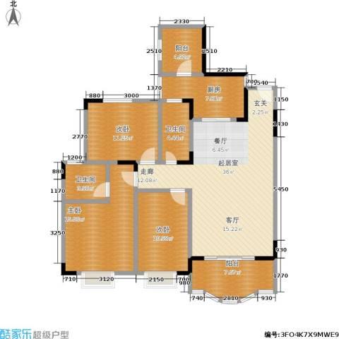 翰林景园3室0厅2卫1厨116.00㎡户型图
