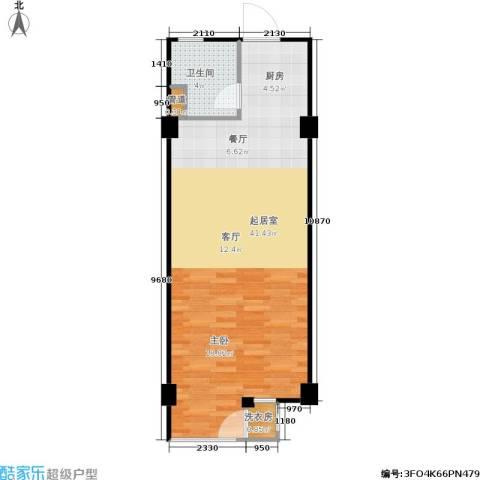 立方寓1卫0厨62.00㎡户型图
