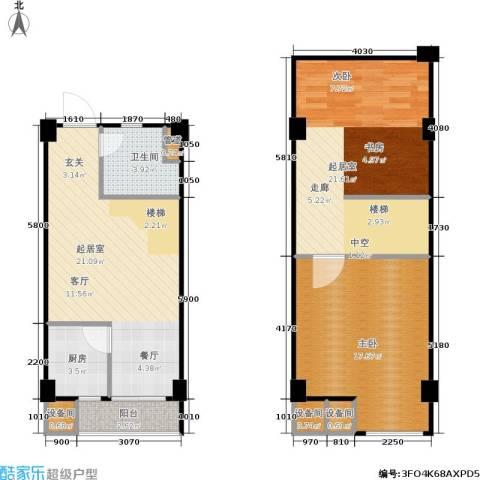 立方寓1室0厅1卫1厨72.68㎡户型图