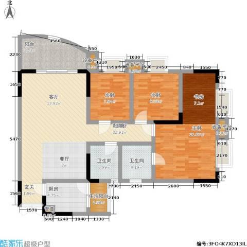 尚赏居3室1厅2卫1厨100.00㎡户型图